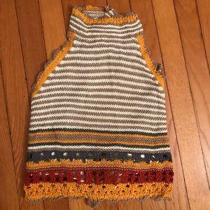 Boho Crocheted vintage inspired halter top